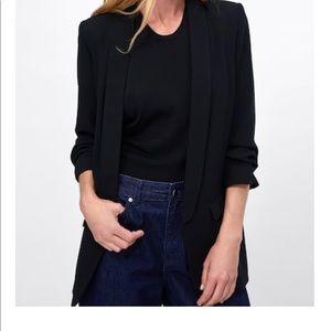 Zara Crepe Blazer in Black. Size XS